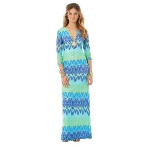 LILLY PULITZER Lamora Knit Lace Maxi Dress XS